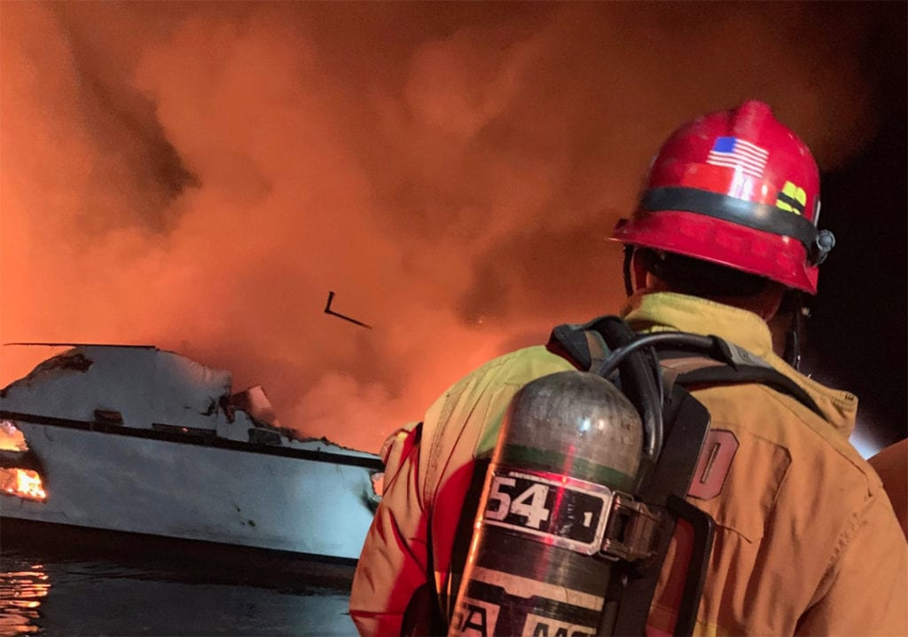 Family, teenagers among 34 presumed dead in boat fire